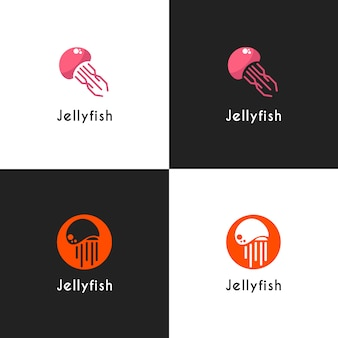 Jelly fish logo collection