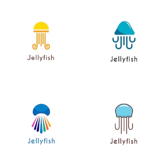Коллекция логотипов jelly fish