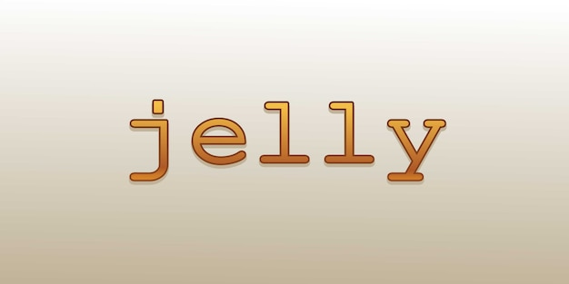 Jelly font effect editable design with smart object