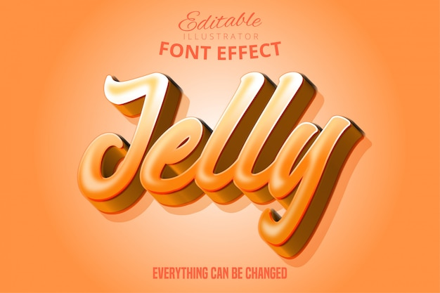 Jelly text, editable font effect