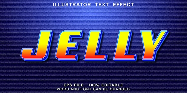 Jelly text effect editable