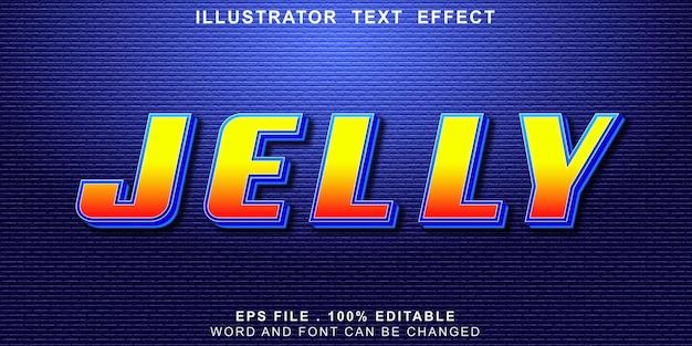 Jelly text effect editable