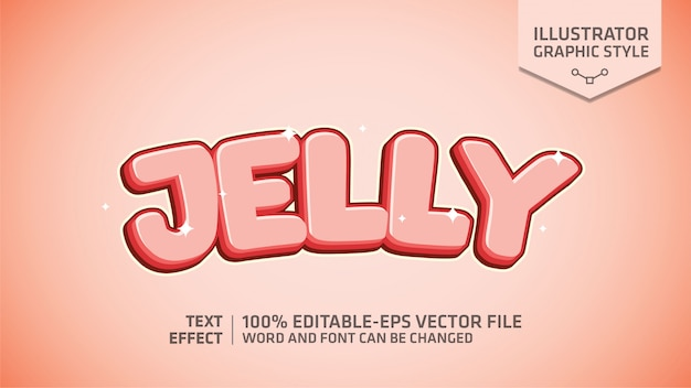 Jelly text effect graphic style