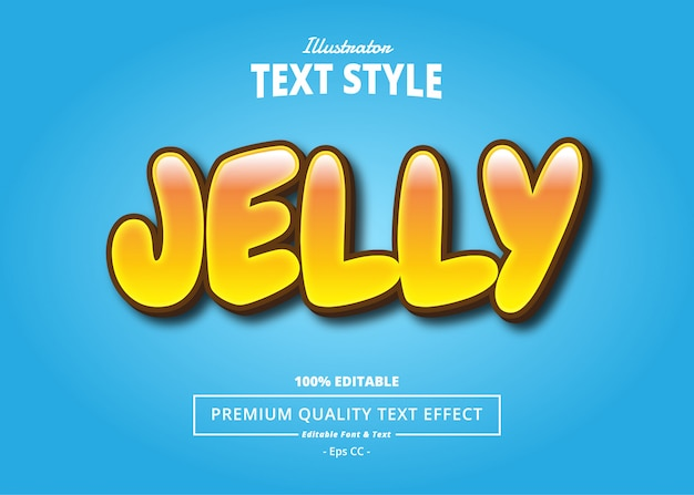 Jelly text effect