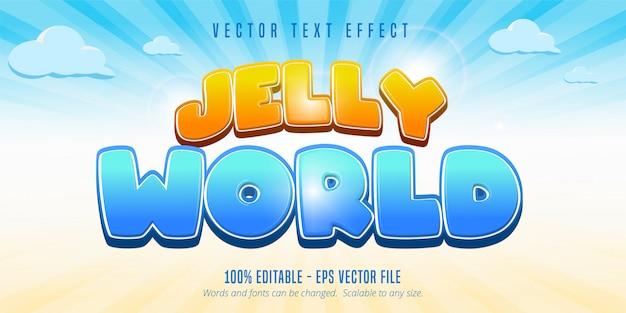 젤리 세계 텍스트, 게임 스타일 편집 가능한 텍스트 효과