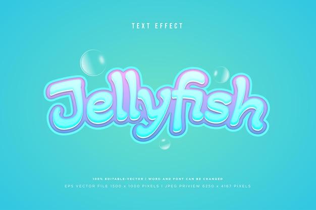 Медуза 3d текстовый эффект на фоне тоска