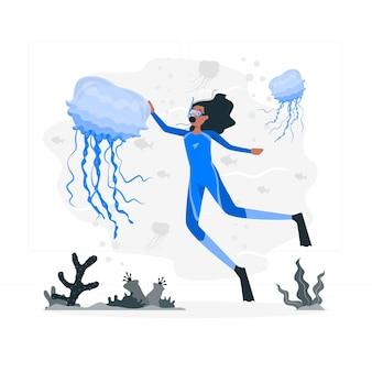 Jellyfish concept illustration