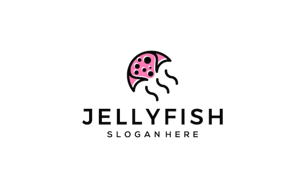 Jellyfish logo minimalist premium