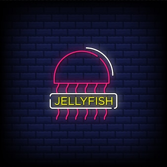 Jellyfish neon signs style text
