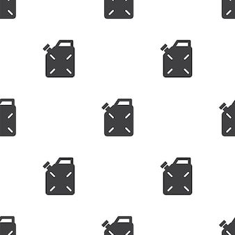 Jerrycan, vector seamless pattern, editable can be used for web page backgrounds, pattern fills