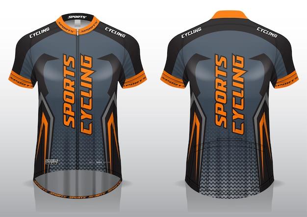 Велоспорт из джерси, вид спереди и сзади, спортивный дизайн, готов к печати на ткани и текслите