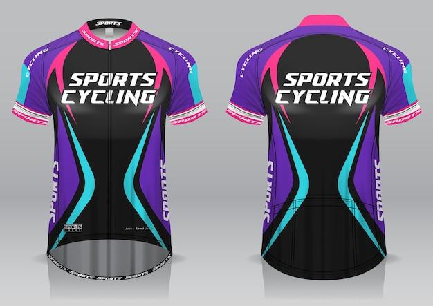 저지 사이클링 전면 및 후면보기 스포티 한 디자인