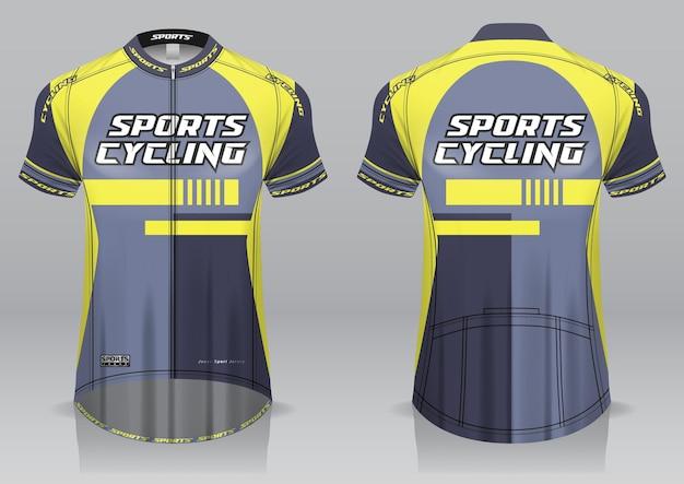 Джерси велоспорт вид спереди и сзади спортивный дизайн