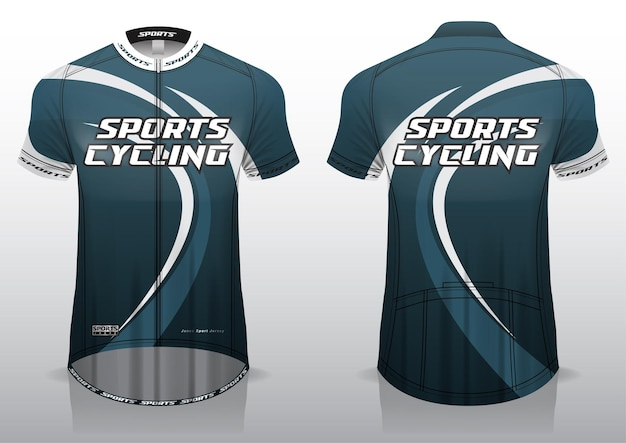 Jersey cycling, front and back view, sporty design and ready to be printed on fabric and texlite