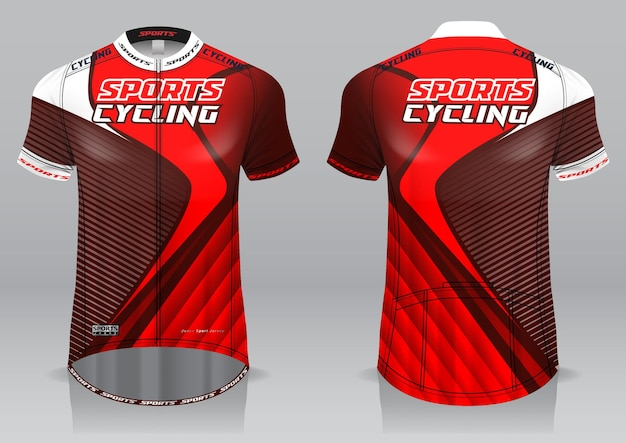 Jersey cycling front and back view sporty design
