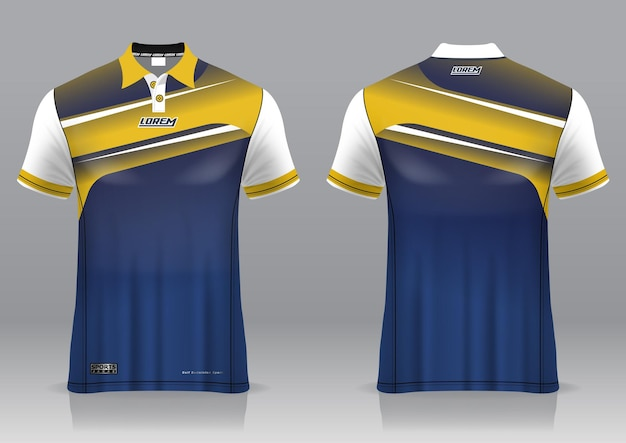 Jersey golf, front and back view, sporty design and ready to be printed on fabric and texlite Premium Vector