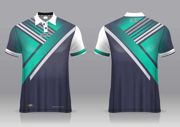 Jersey golf, front and back view, sporty design and ready to be printed on fabric and texlite