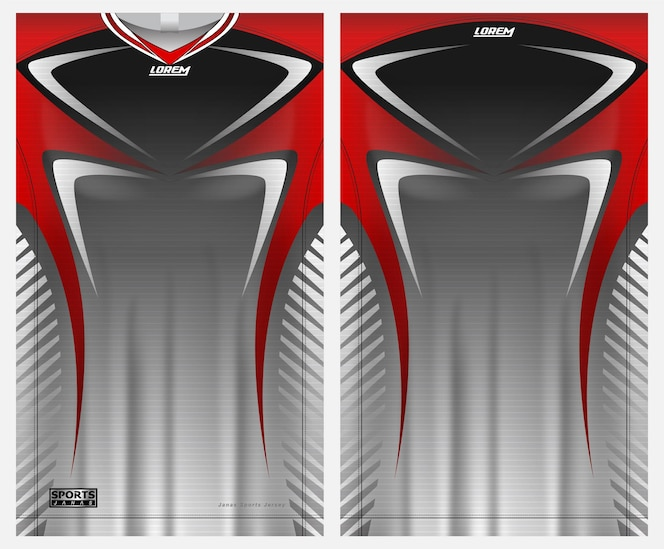 jersey sport soccer  for uniform front and back view template