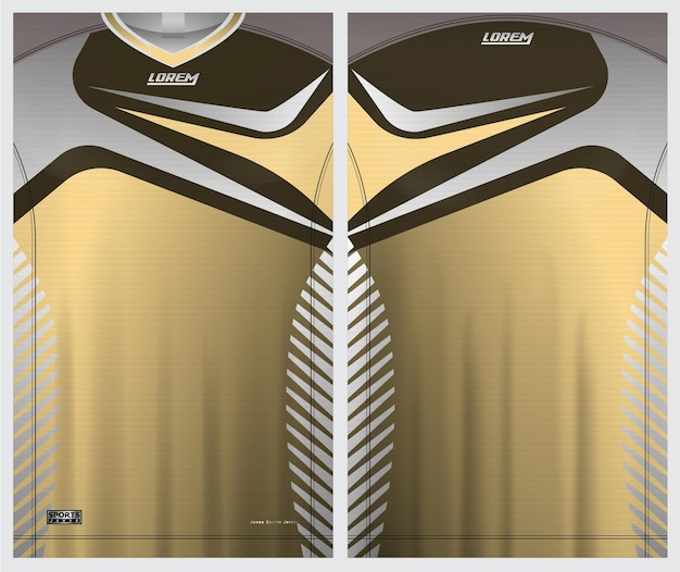 Jersey sport soccer  uniform front and back view template