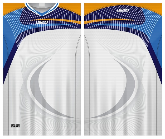 Jersey sport, soccer uniform front and back view template