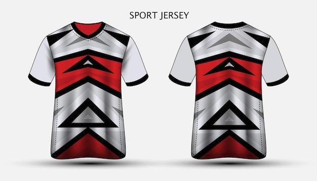 저지 템플릿 스포츠 티셔츠 디자인 프리미엄 벡터
