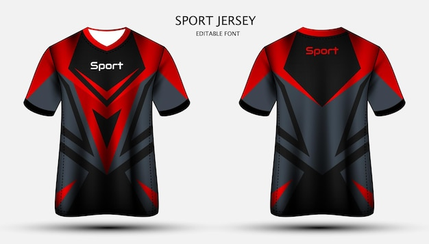 저지 템플릿 스포츠 t 셔츠 디자인