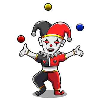 Дизайн логотипа талисмана jester esport