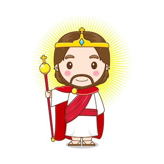 Jesus christ as a king