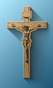 Jesus christ, crucifix, blessing, cross, christianity, vector