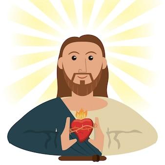 Jesus christ sacred heart spiritual symbol