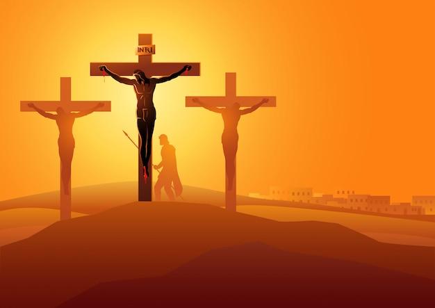 예수 께서 십자가에서 돌아가시다