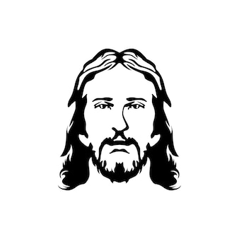 Jesus face silhouette mature mens faces mustache beard and long