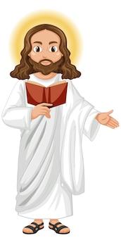 Gesù che predica in posizione eretta personaggio