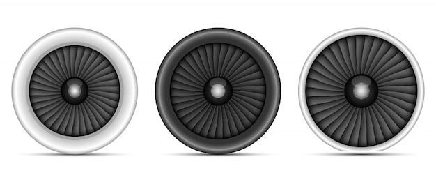 分離されたジェットエンジンの設計図
