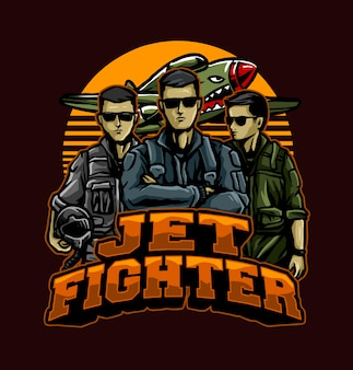 Jet fighter pilots