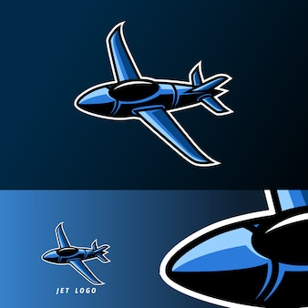 Jet plane war soldier mascot sport gaming esport logo template for squad team club