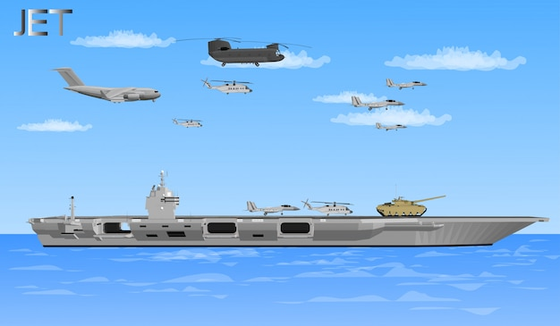 Jet planes and warships for soldiers