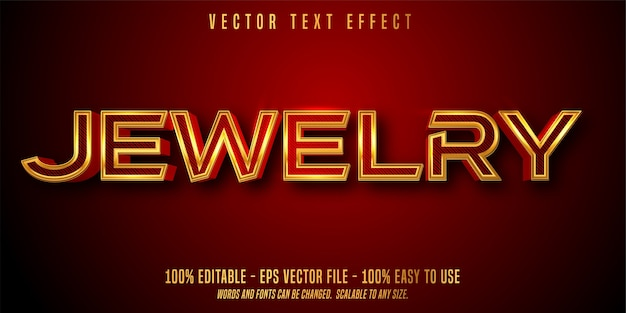 Jewelry editable text effect isolated on dark red