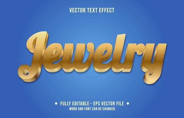 Ювелирные изделия редактируемый текстовый эффект современный градиент золотой стиль