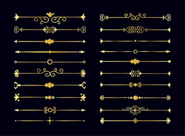 Jewelry set. collection of floral text dividers elements. vector isolated white background.