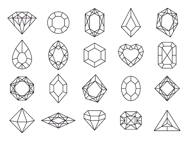Jewels diamond icons.