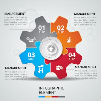 Jigsaw concept teamwork infographic.
