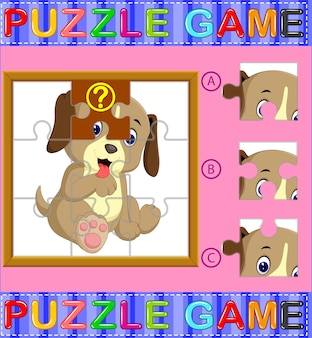Jigsaw puzzle education game