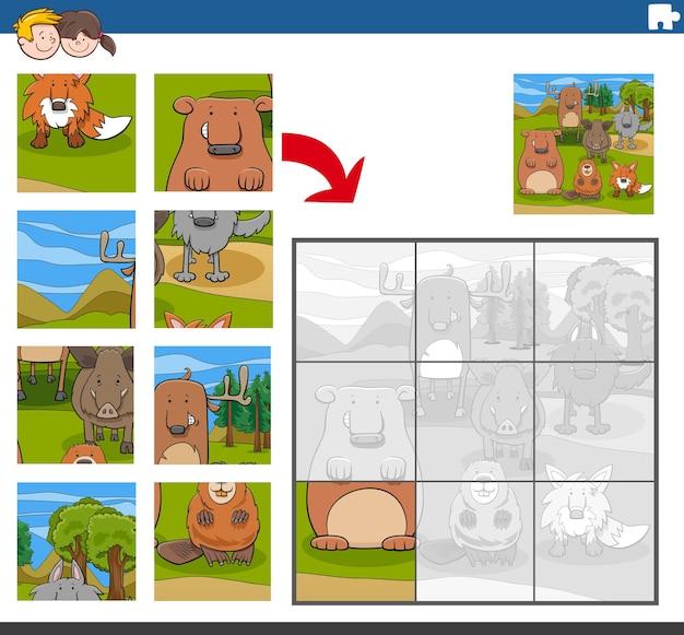 動物とのジグソーパズルゲーム