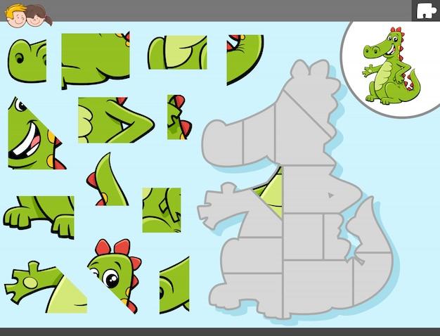 드래곤 판타지 캐릭터와 직소 퍼즐 게임