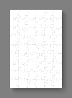Jigsaw puzzle mockup templates