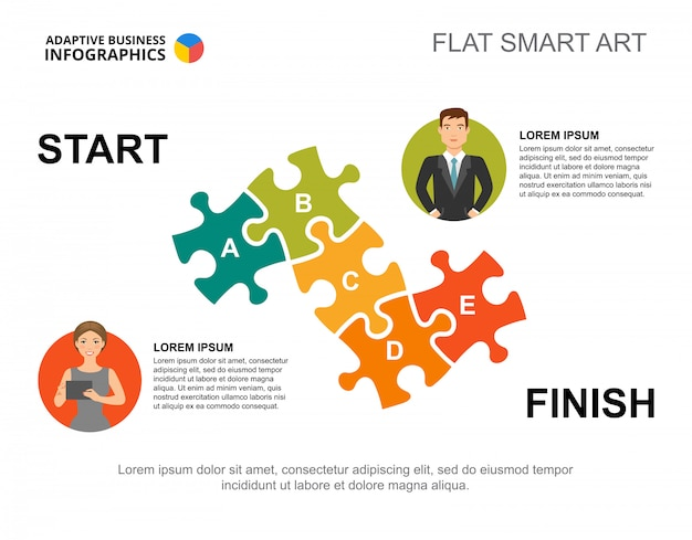 Jigsaw puzzle process chart template