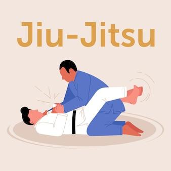 Спортсмены джиу-джитсу борются