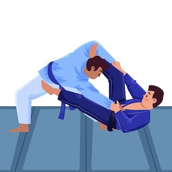 Atleti di jiu jitsu combattimenti