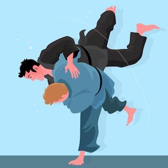 柔術選手の戦い